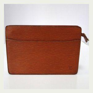 Auth LOUIS VUITTON Pochette Trousse Epi Bag SR1000